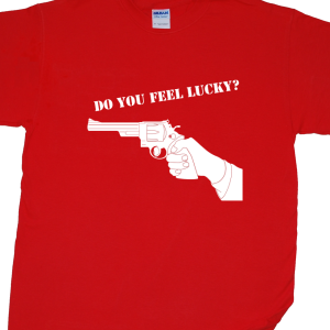 Dirty Harry /'Do You Feel Lucky?/' Cool T-SHIRT ALL SIZES # Black